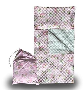 Panini Tessuti - Juego de guardería, saco de dormir y bolsa guardería, para niños de 2 a 6 años Api e Orsetti Rosa: Amazon.es: Bebé