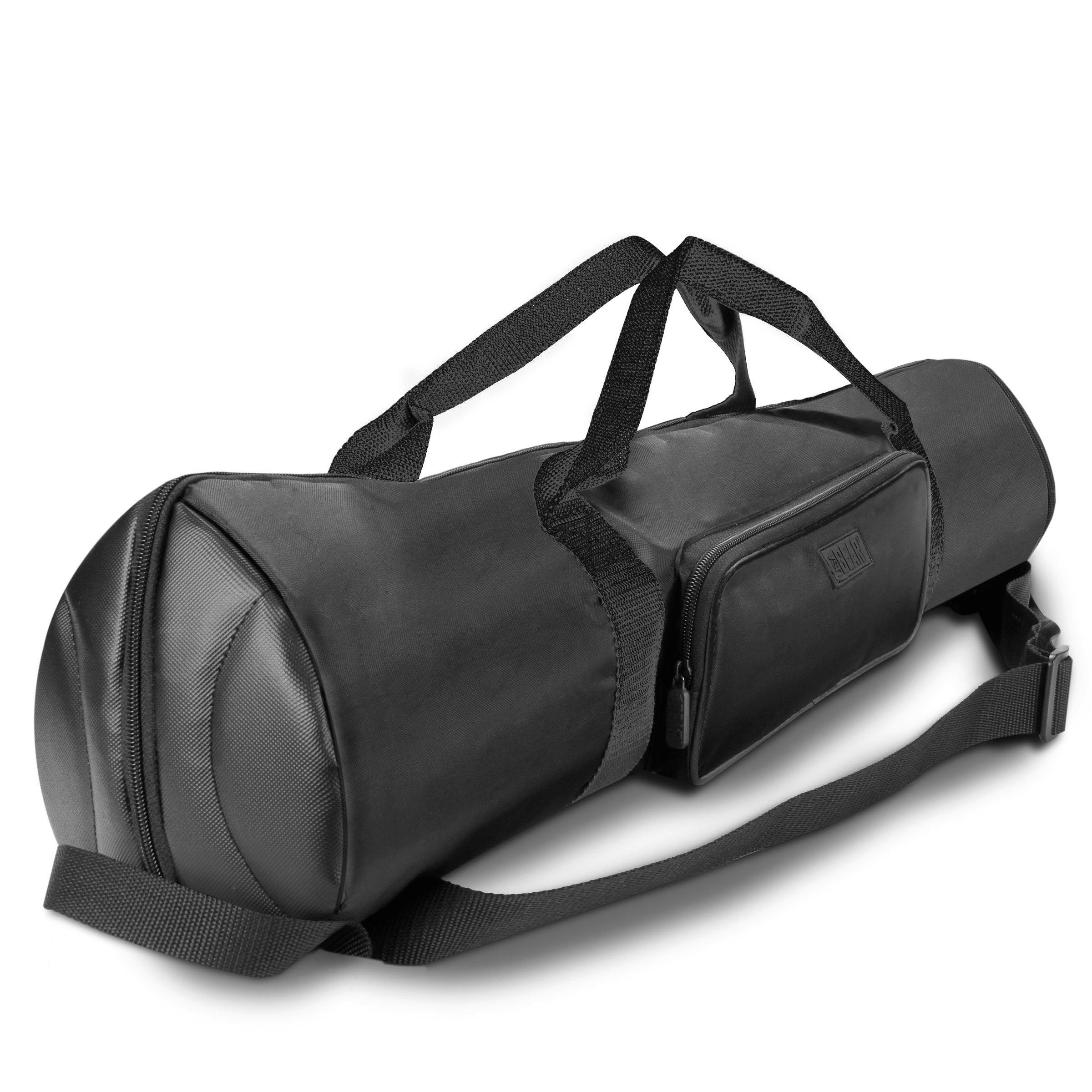 USA Gear Padded Tripod Case Bag (Black) - Holds Tripods from 21 to 35 inches - Adjustable Size Extension, Storage Pocket and Shoulder Strap for Professional Camera Accessories and Photo Carrying Needs