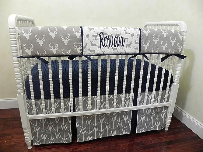 Nursery Bedding Sets Boy.Amazon Com Woodland Nursery Bedding Set Rowan Baby Boy