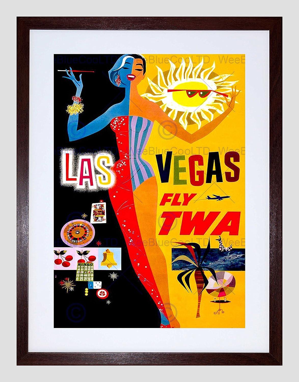 Amazon.com: TRAVEL TWA AIRLINE LAS VEGAS NEVADA GAMBLING GLAMOUR ...