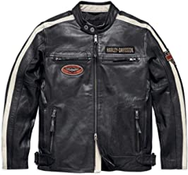 Harley-Davidson Official Mens Command Leather Jacket, Black