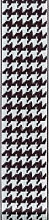product image for Offray, White & Black Wired Edge Houndstooth Craft Ribbon, 1 1/2-Inch x 9-Feet