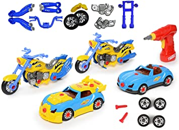 take apart racing car motorcycle toys build your own toy with 52 piece constructions