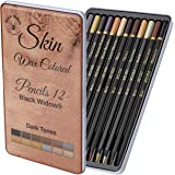 Black Widow Dark Skin Tone Colored Pencils for Adults - Color Pencils for Portraits and Skintone Artists - A Complete Color R