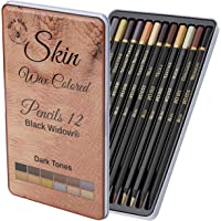 Dark Skin Colored Pencils | Portrait Pencil Set | Colored Pencil for adults | Skintone Artist Pencils