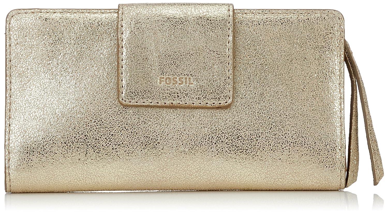 Fossil Damen Geldbörse Emma - Rfid Tab Clutch Pale Gold Metallic, 2.2x8.9x17.8 cm B076YRHFHD Geldbrsen