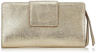 c00c440d6a054 Fossil Damen Geldbörse Emma-RFID Tab Clutch (Pale Gold Metallic ...