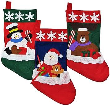 Amazon.com: Christmas Stockings for Kids - Set of 3 - Family ...
