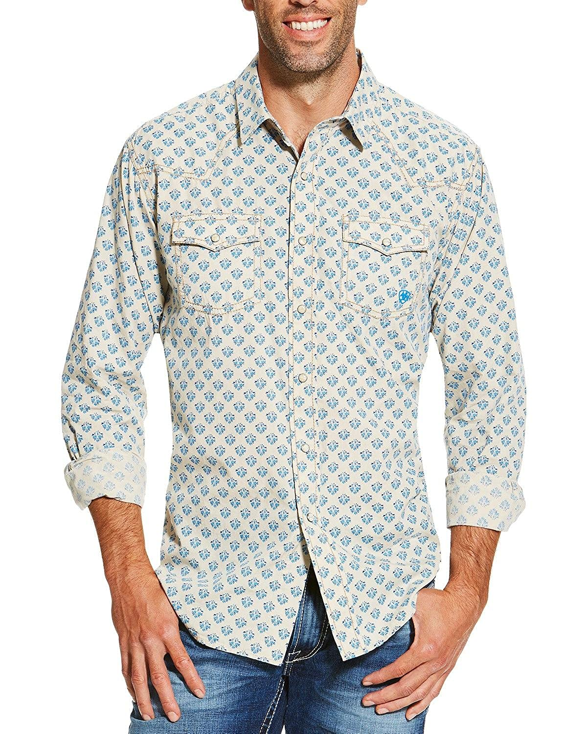 1960s Inspired Fashion: Recreate the Look Ariat Mens Chad Retro Shirt $54.95 AT vintagedancer.com