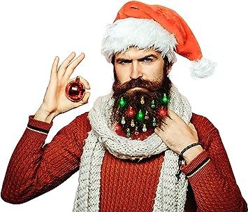 Christmas Tree or Snow Beard Lights Kit Fun Ornaments For Your Beard Fun Novelty
