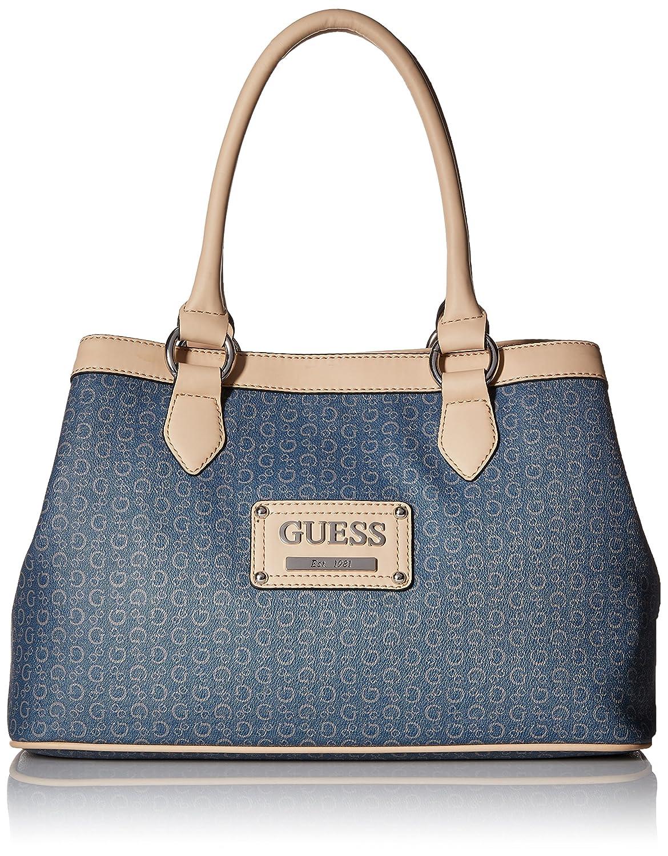 Amazon.com  GUESS Women s Proposal Large Logo Satchel  Shoes 5787da24eaa98