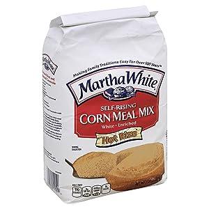 Martha White Self-Rising White Enriched Corn Meal Mix, 5 lb
