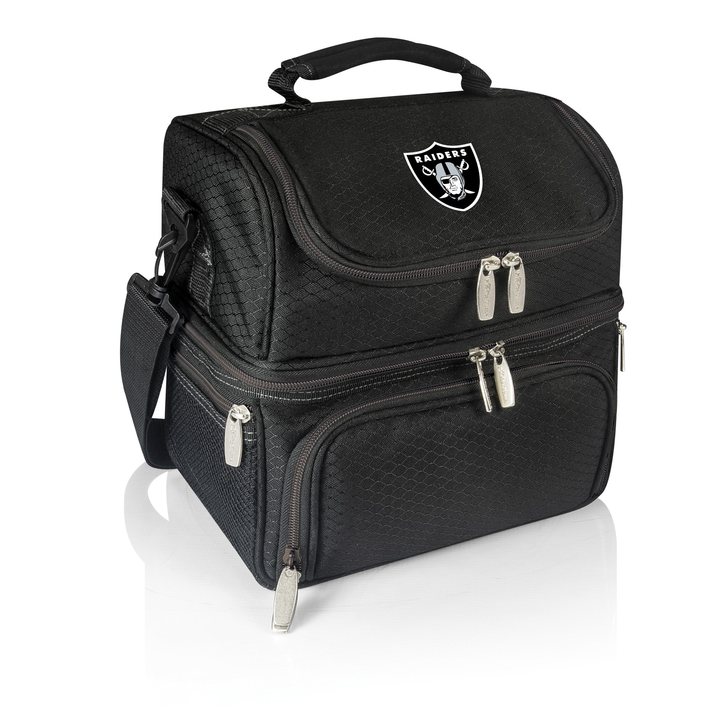 PICNIC TIME NFL Oakland Raiders Digital Print Pranzo Personal Cooler, One Size, Black