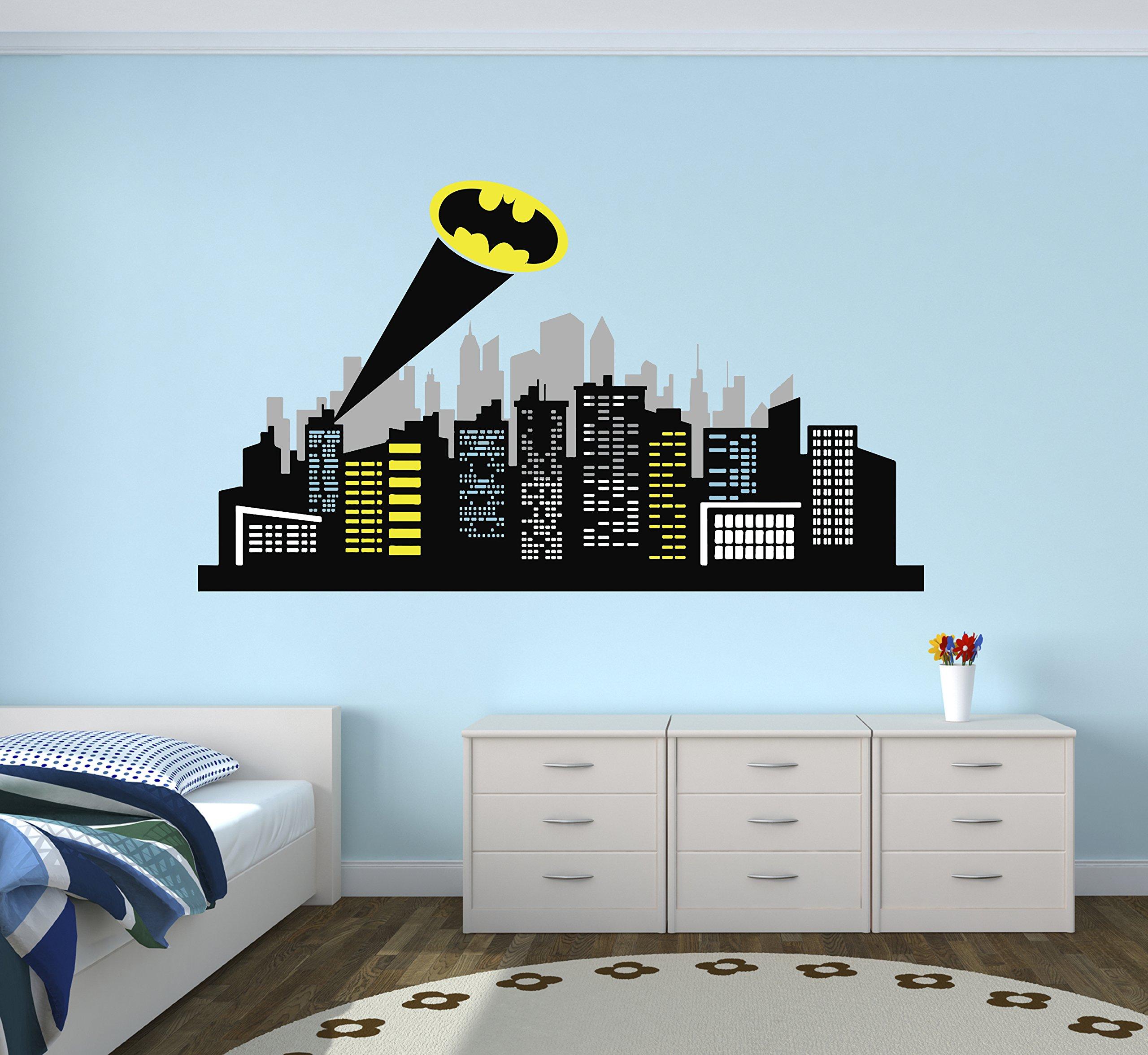 Gotham City Wall Decal Baby Boy Kids Decor Nursery Gift Art Vinyl Sticker by Decalzone Inc
