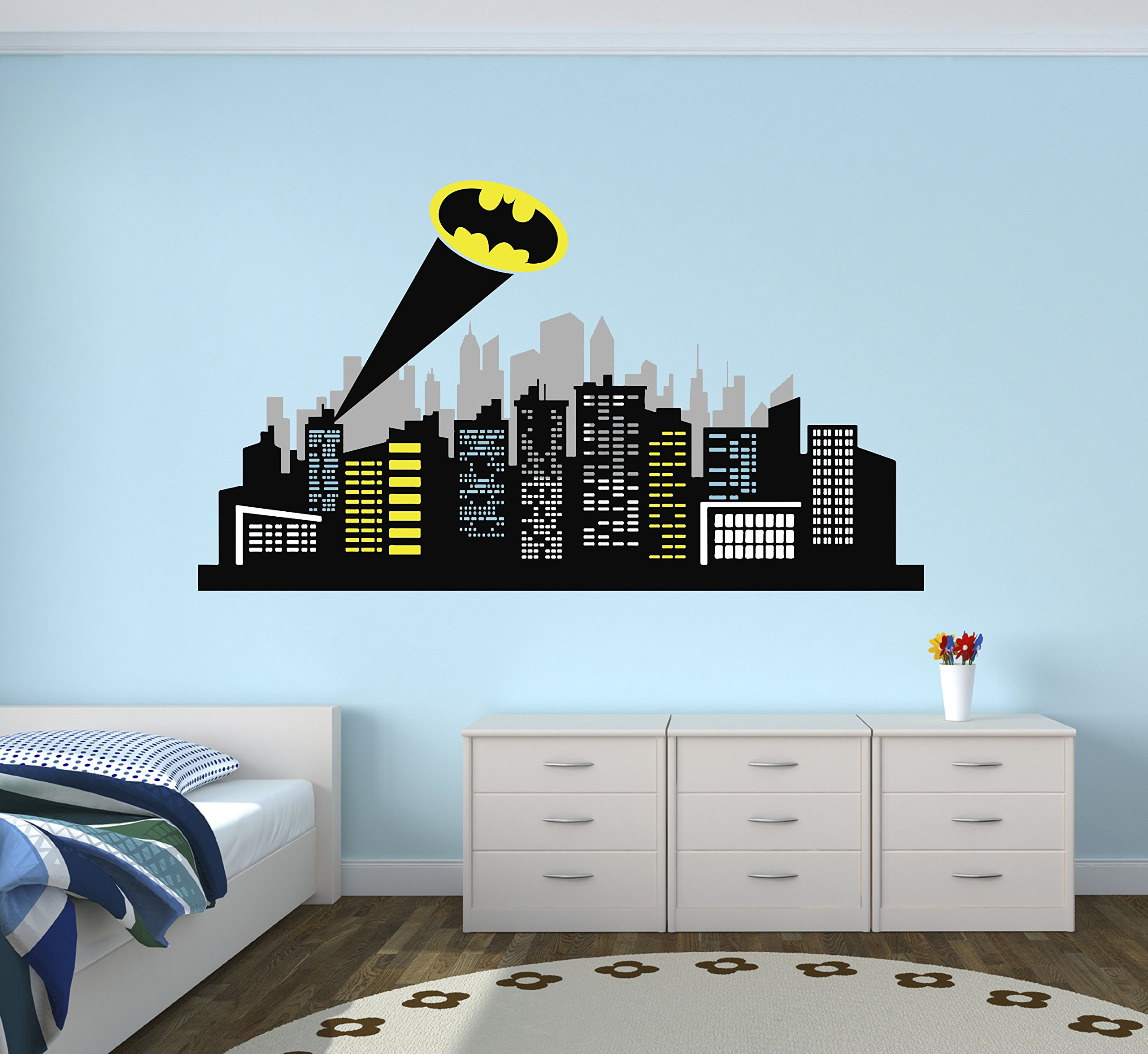 Gotham City Wall Decal Baby Boy Kids Decor Nursery Gift Art Vinyl Sticker