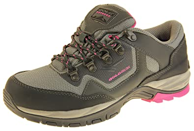 60a14e1e1ca Gola Womens Grey and Pink Waterproof Hiking Shoes UK 6  Amazon.co.uk ...
