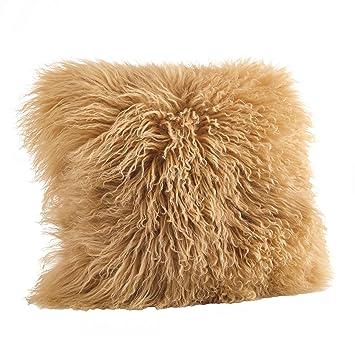 Amazon.com: SARO LIFESTYLE - Almohada de lana de cordero ...