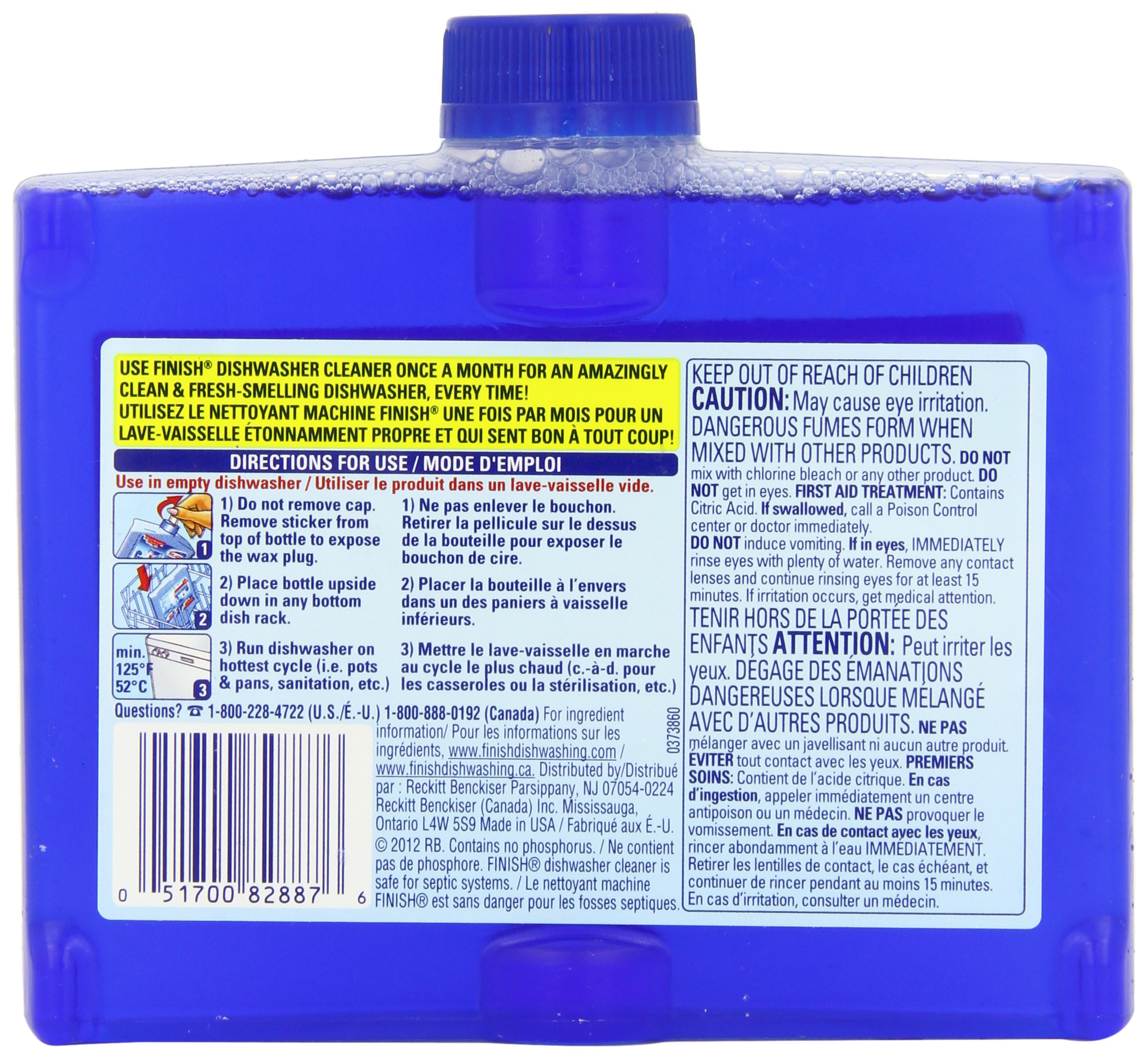Finish Dishwasher Cleaner Dual Action Formula, Original, Pack of 2 by Finish (Image #2)