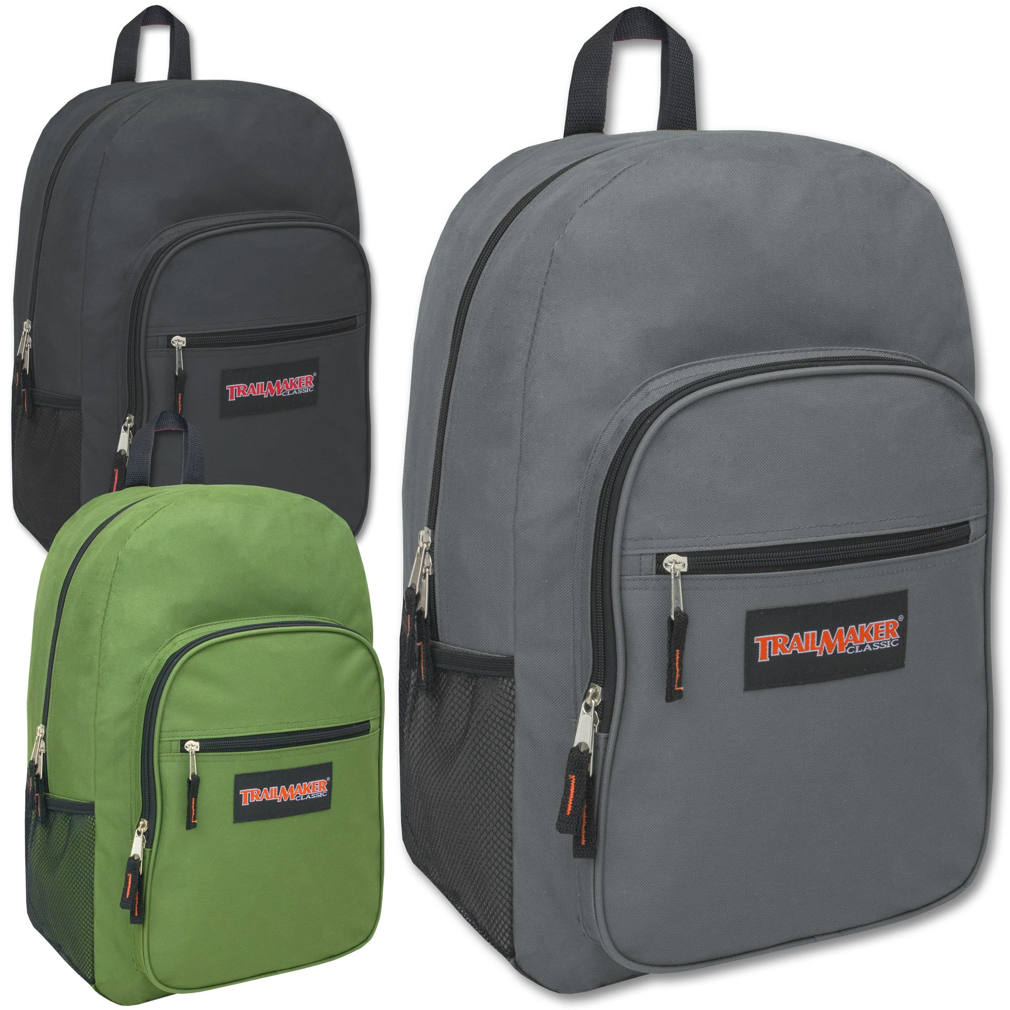 Wholesale Trailmaker Deluxe 19 Inch Backpack Case Pack 24 by Trail maker