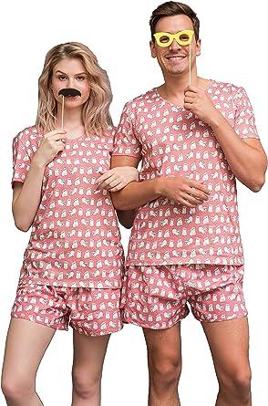 Pijama Happy Pijama de algodón orgánico para hombres y mujeres en caja de regalo: Amazon.es: Ropa y accesorios