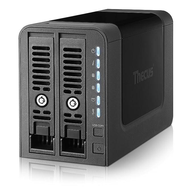 Thecus N2350 NAS Torre Ethernet Negro servidor de almacenamiento - Unidad RAID (Unidad de disco duro, SSD, Serial ATA II, Serial ATA III, 2.5/3.5