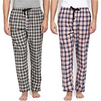 Joven Pack of 2 Men's Cotton Assorted Checkered Multicolor Pyjama