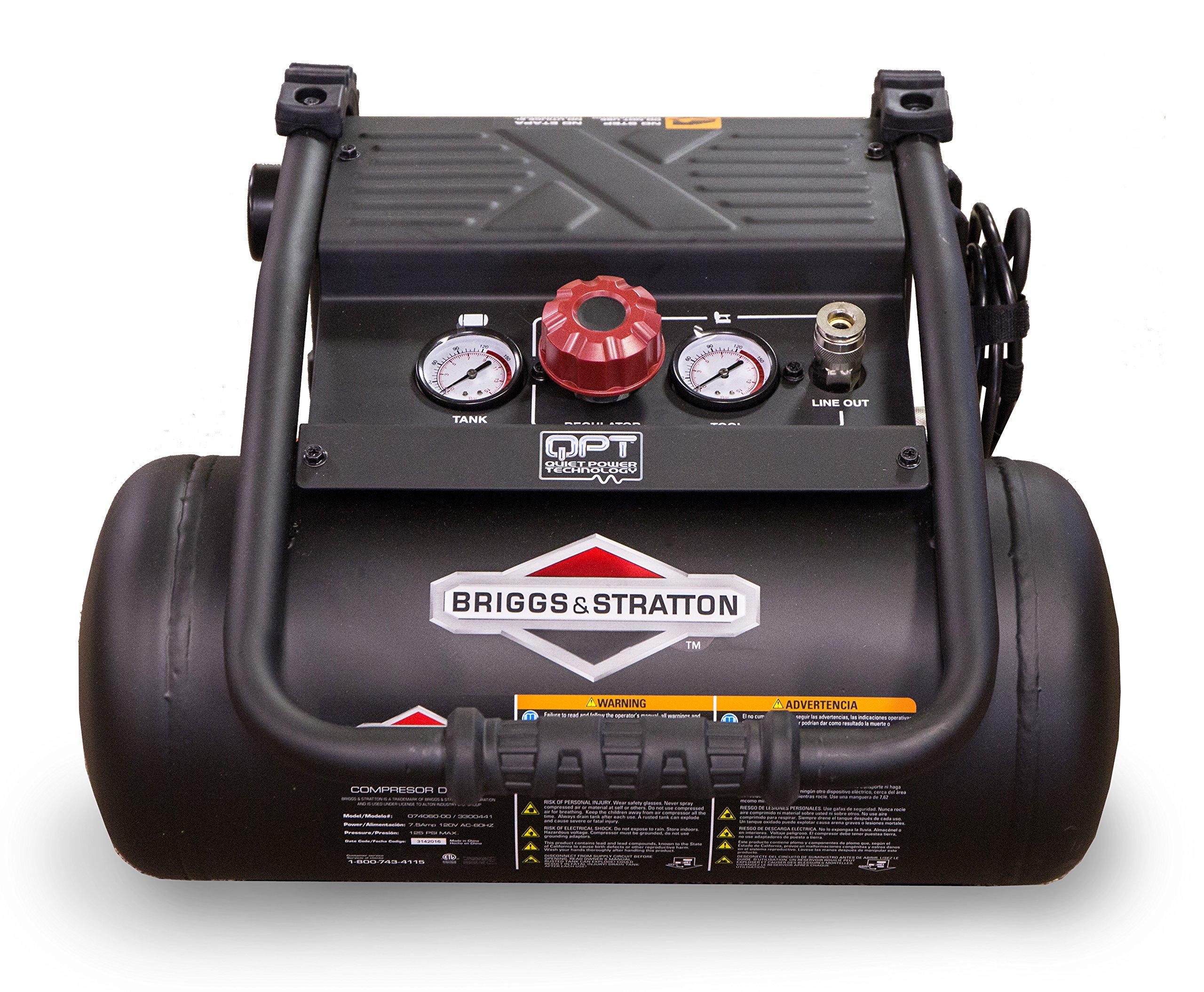 Briggs & Stratton 4-Gallon Quiet Power Technology Air Compressor 074060-00 by Briggs & Stratton