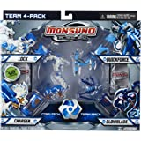 Giochi Preziosi - Monsuno 4 Pack Glowblade, Quickforce, Lock y Charger