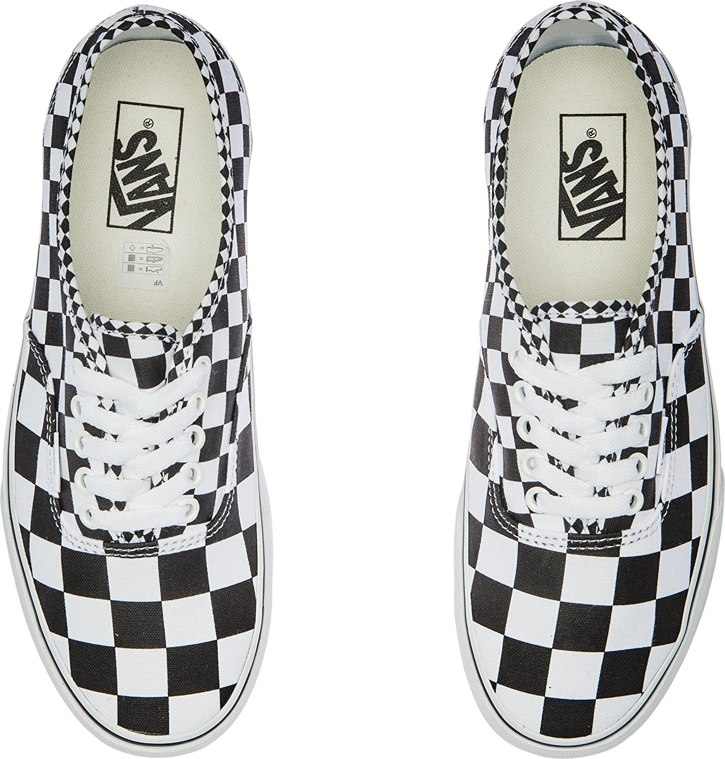 Vans Herren Authentic Core Classic Sneakers B07B4RW53W 35 M EU / 5.5 B(M) US Women / 4 D(M) US Men|(Mix Checker) Black/True White
