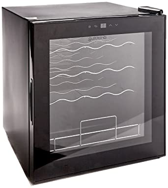 Guzzanti GZ 19 Refrigerador de vino para hasta 19 botellas con iluminación LED de puerta de