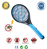 Bug Zapper Racket – Ideal as Fly Zapper, Mosquito Zapper or Electric Fly Swatter – Safe and Effective for both Indoor and Outdoor – Easy to Use – Durable Design . Great for the Gift!
