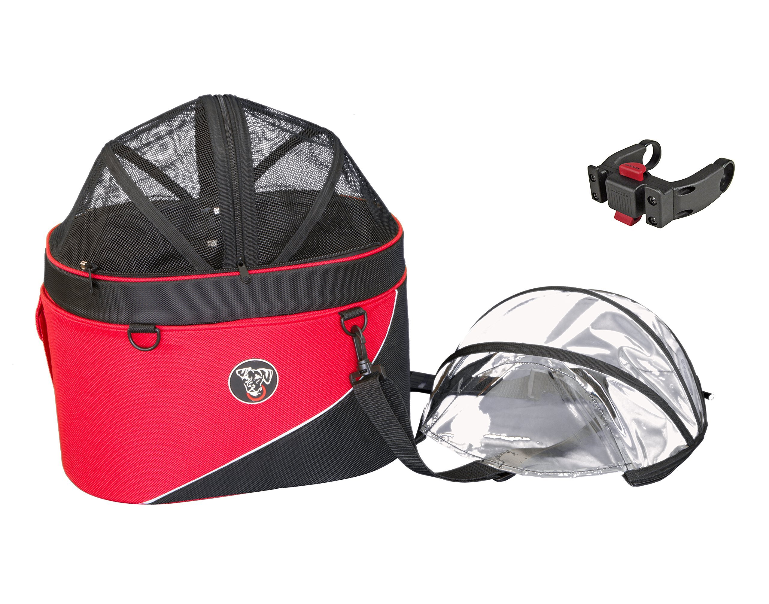 DoggyRide Cocoon Bike Basket for Pets, Red