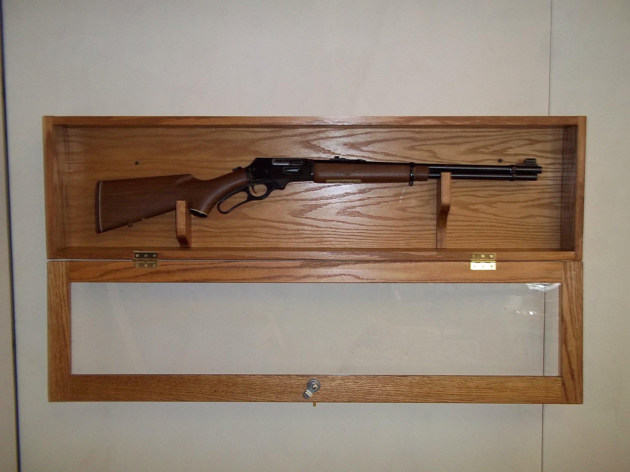 Locking Gun Display Case for 30-30 by oakwoodgunracks.com (Image #1)
