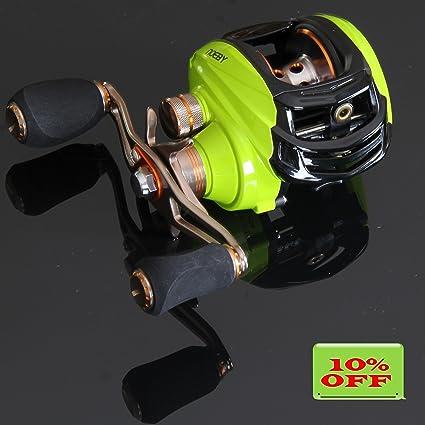 amazon com noeby low profile baitcasting fishing reel with 10 1