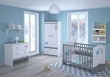 Kinderzimmer komplett set  Polini Kids Babyzimmer Kinderzimmer komplett Set L Basic Modell ...