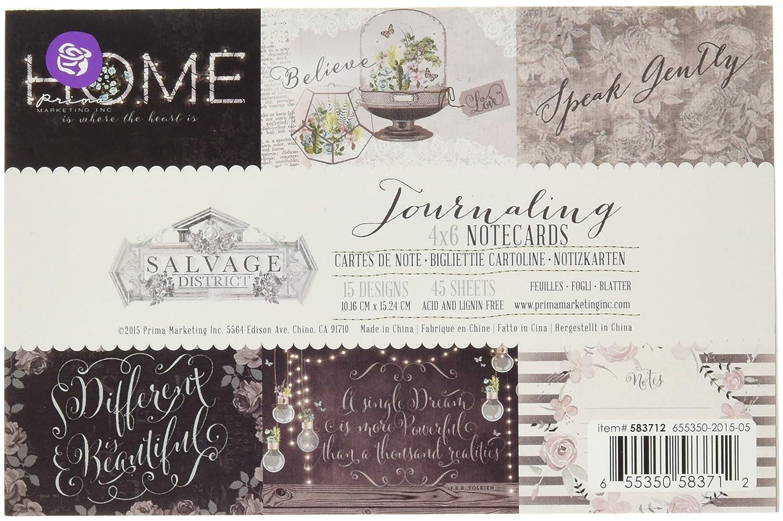 andere 15/cm x 15,2/cm doppelseitig Designs Unbekannt Prima Marketing retten District Journaling Karten 4 Mehrfarbig