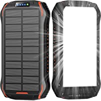 Solar Power Bank,Solar Charger 26800mAh,Solar Panel Charger with LED Flashlights and 3 USB Output Ports External Backup…