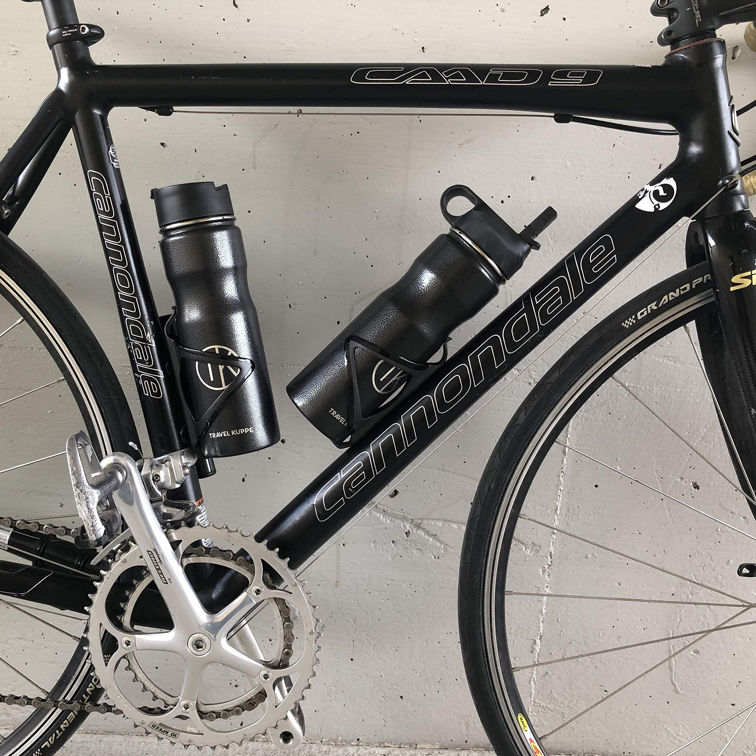 Travel Kuppe Vacuum Insulated Stainless Steel Cycling Sports Water Bottle, Includes Both Straw and Sip Lid by Travel Kuppe (Image #3)