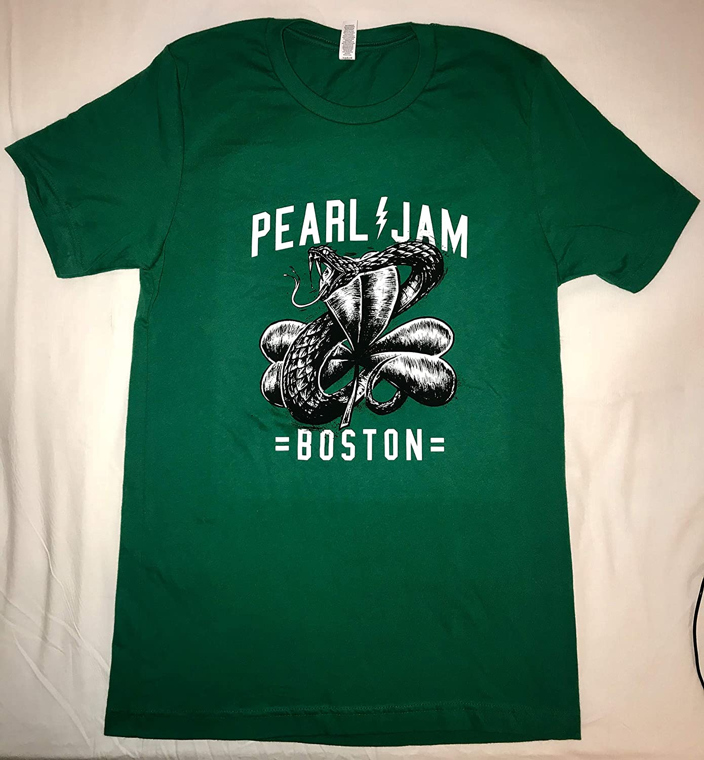Pearl Jam t shirt boston fenway park snake clover green xl 2018 tour pj concert t-shirt new