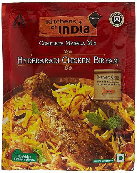 Superior Kitchens Of India Hyderabadi Chicken Biryani Masala Mix, 80g