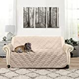 DriftAway Water-Resistant Quilted Furniture Protector love-seat Cover Slipcover for Dogs, Kids, Pets - Beige (Love Seat)