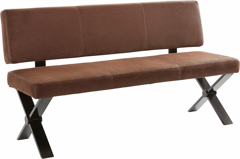 CAVADORE Küchenbank Colt/Sitzbank mit Rückenlehne 160 cm Breit im ...