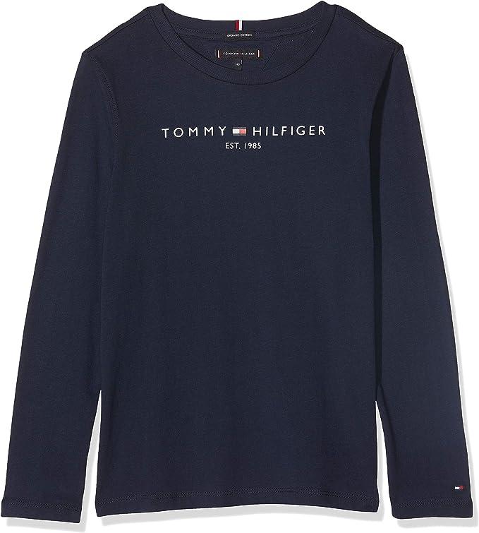 Tommy Hilfiger Essential Hilfiger tee L/S Camisa Manga Larga para Niños: Amazon.es: Ropa y accesorios