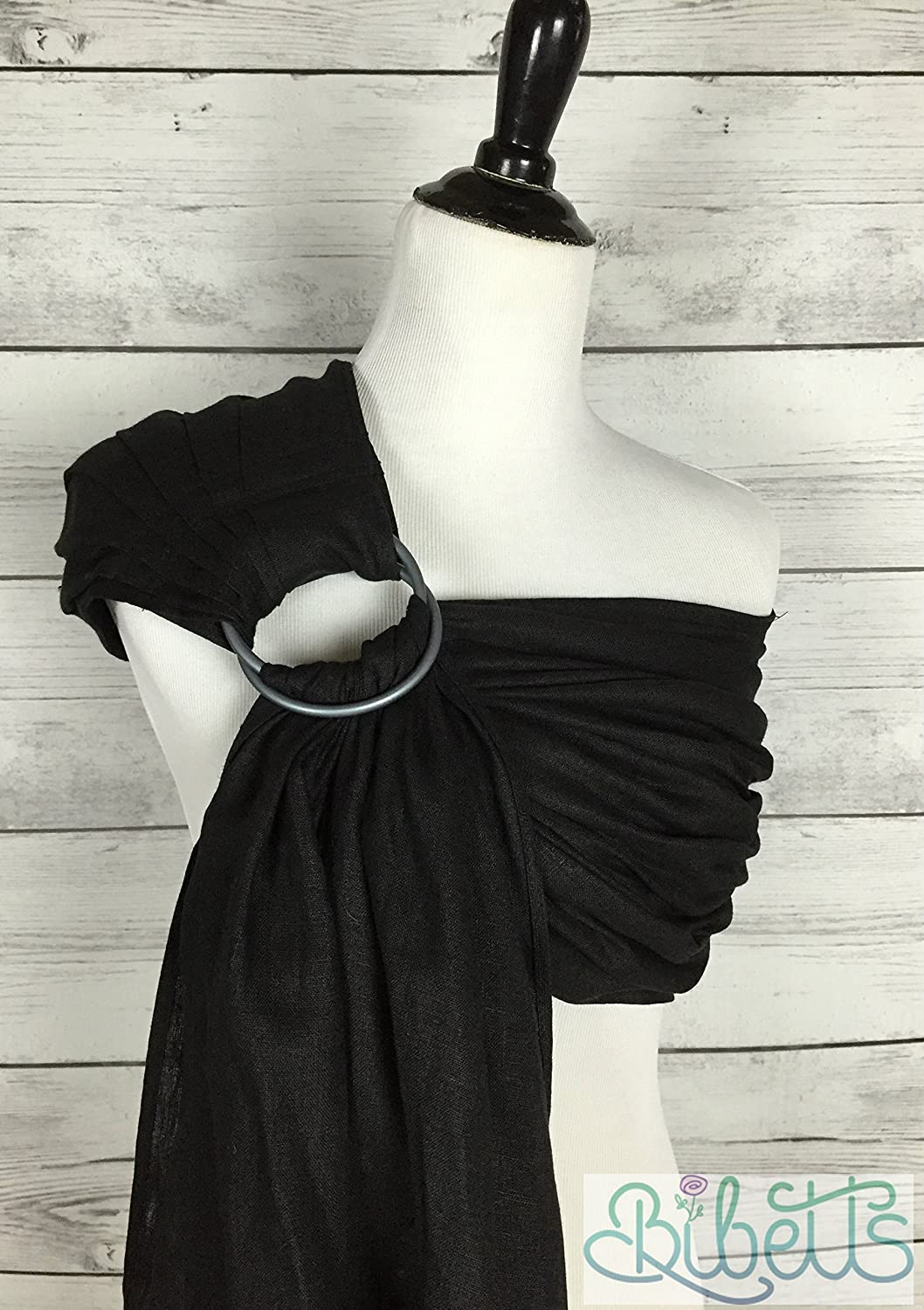 4a73db21d58 Amazon.com   Pure Linen  Black  Ring Sling Baby Carrier   Baby