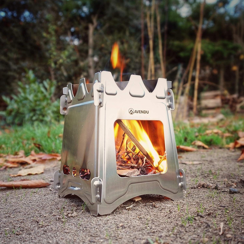 para Exterior Hornillo Compacto para Camping Avendu Hobo Carretilla y Supervivencia Incluye Bolsa