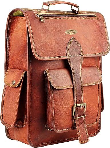 All Men/'s Leather Backpack Bag Rucksack Messenger Laptop Satchel Genuine Vintage