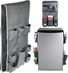 Classic Design - Dorm and office Double Over the Fridge Caddy Organizer, Storage and Paper Goods Organizer