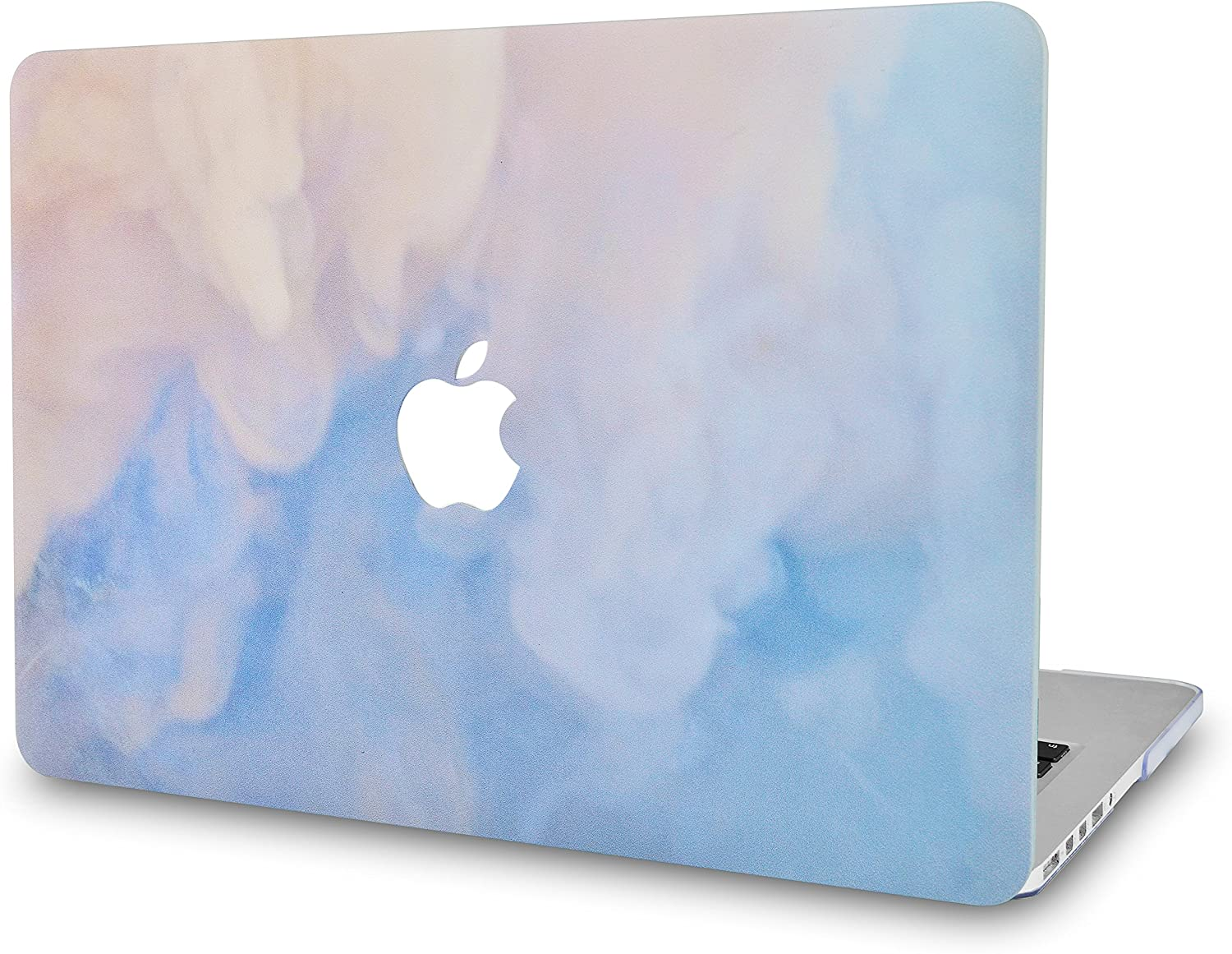 LuvCaseLaptopCaseforMacBookAir 13 Inch A1466 / A1369 (No Touch ID)RubberizedPlasticHardShellCover (Blue Mist)