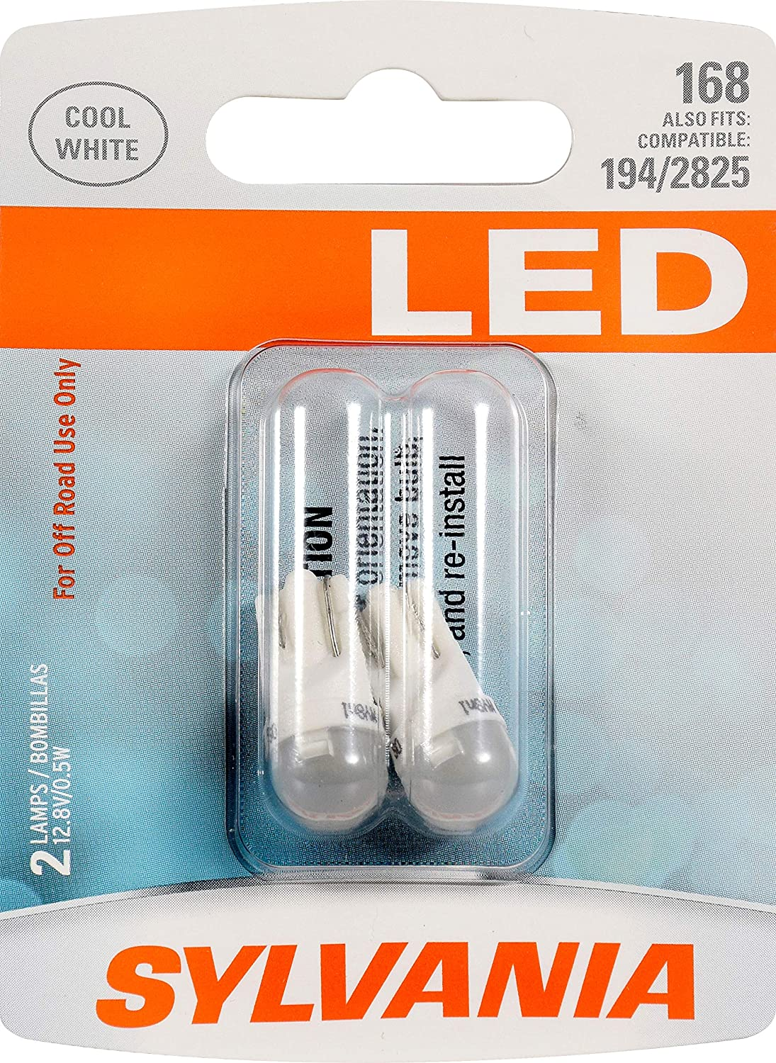 Sylvania Premium LED light 168 Red Two Bulbs Trunk Dome Drive Door Step Parking