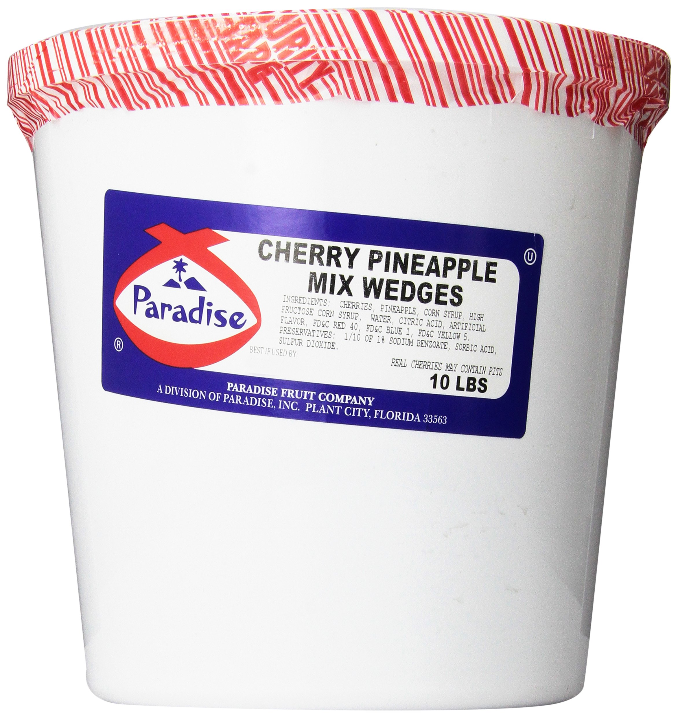 Paradise Cherry Pineapple Mix, Whole Cherry, Wedged, 10 Pound Tub by Paradise